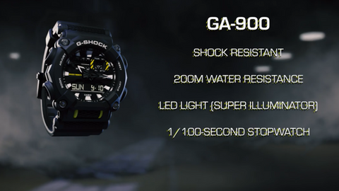See the Casio G-Shock GA-900 in Action