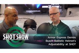 (Video) Armor Express Demos Busch Ballistic Helmet's Adjustability at SHOT