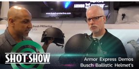 (Video) Armor Express Demos Busch Ballistic Helmet's Adjustability at SHOT