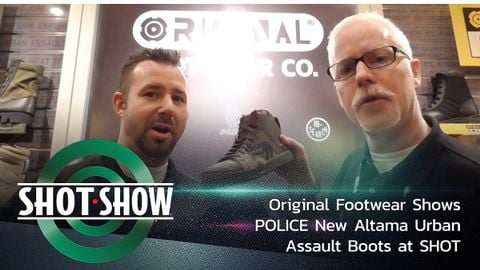 Altama's Urban Assault Boot seen in the Original Footwear booth at SHOT Show 2020 is designed to...