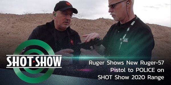 POLICE sees the new Ruger-57 pistol on the SHOT Show range.