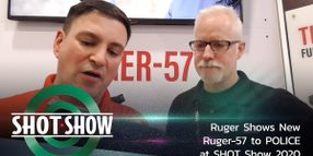 (Video) Ruger Shows New Ruger-57 to POLICE at SHOT Show 2020