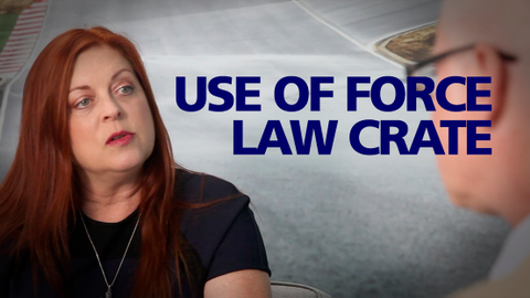 "Attorney Missy O'Linn uses her ""Constitutional Law Crate"" to give officers mnemonics to help..."