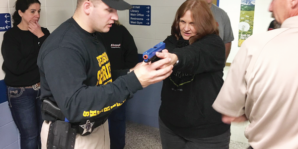 Part of Jefferson County's Citizens Police Academy involves learning how to shoot a weapon and...