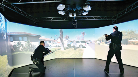 You can increase the realism of simulator training for your officers by filming scenarios in...