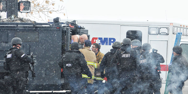 In Colorado Springs officers used armored rescue vehicles to remove wounded from the Planned...