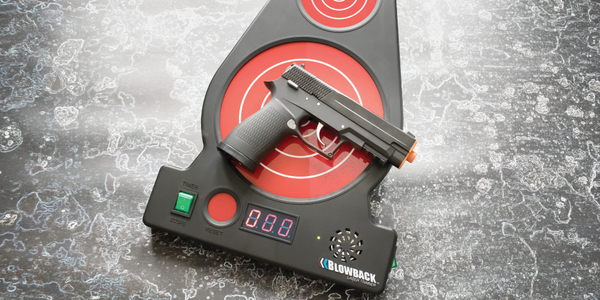 The Blowback Laser Trainer can be used at home or in a classroom for firearms practice and...