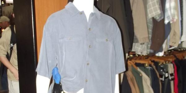 Woolrich offers its boxy CCW short-sleeve shirt. Photo: Scott Smith
