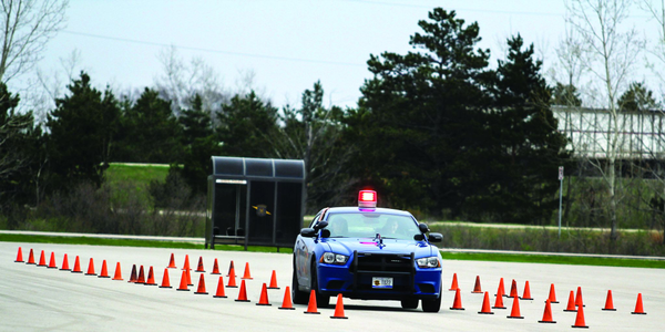 The Michigan State Police provides extensive vehicle-operation training to its recruits. Photo:...