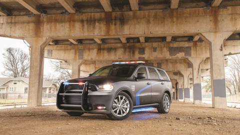 The 2019 Dodge Durango Pursuit features  a new front end design that helps cool the brakes...