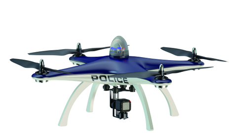 A law enforcement UAS, or drone. Photo: Getty Images