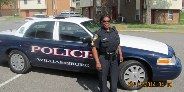 "Sgt. Kim Hamilton of the Williamsburg PD drives through a housing complex: ""Criminals know you..."