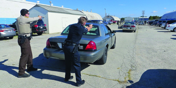 Having backup is critical when making a known risk traffic stop. (Photo: Michael Schlosser)