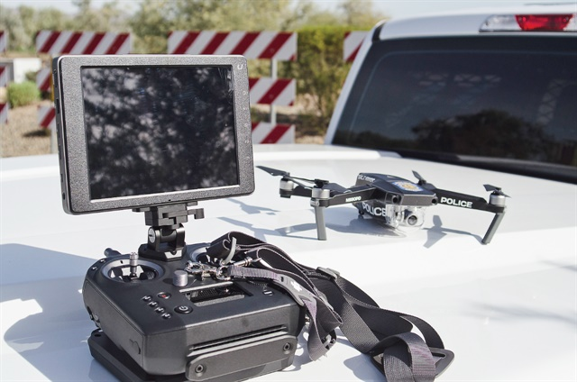 Drones are useful for searches, reconnaisance, photographing crime scenes, and limited surveillance. Photo: Michael Hamann