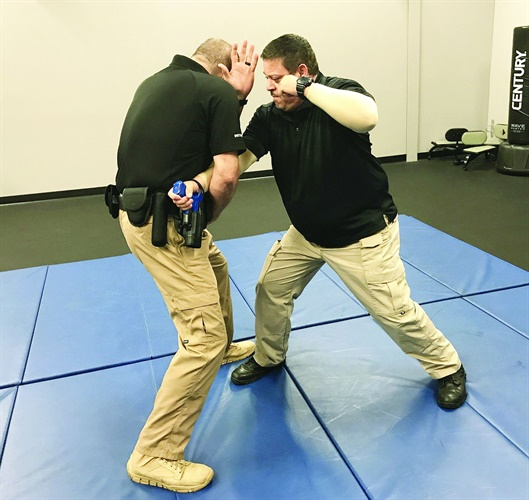 You can control your weapon using a power lock cross grab technique.Photo: Dave Young