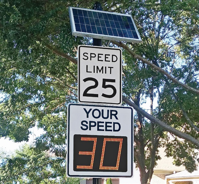 If speed signs aren't positioned properly they won't correctly read the speeds of passing vehicles. Photo: Radarsign