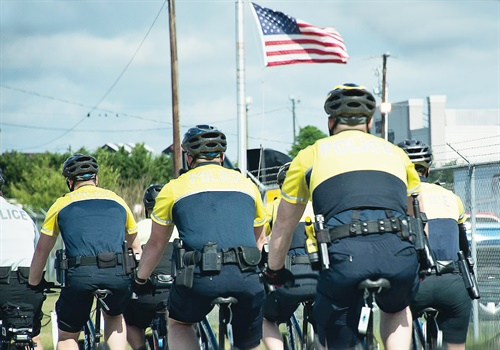 On bicycles, officers can easily maneuver and ride for miles at a time. Photo: South Carolina Department of Public Safety