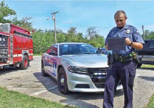 Not every agency is currently positioned to benefit from FirstNet, but that will change as more start issuing smartphones and other such devices to their officers. (Photo: FirstNet)