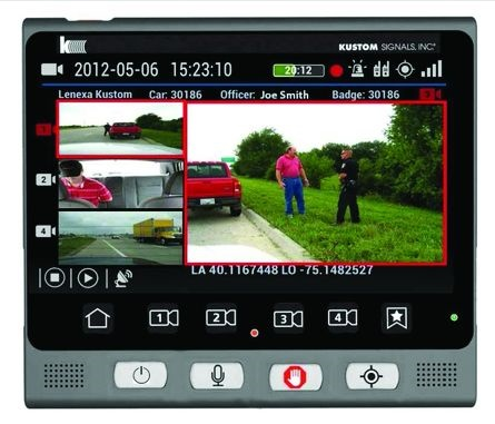 Kustom Signals' Eyewitness HD allows you to see up to four camera views at once.