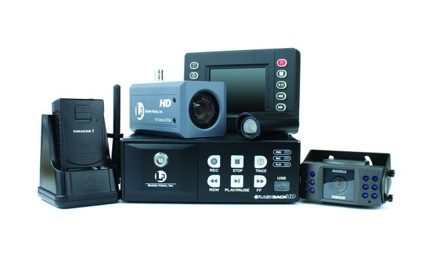L3 Mobile-Vision's FlashbackHD features a camera that can rotate 360 degrees and Nite-Watch technology for low light.