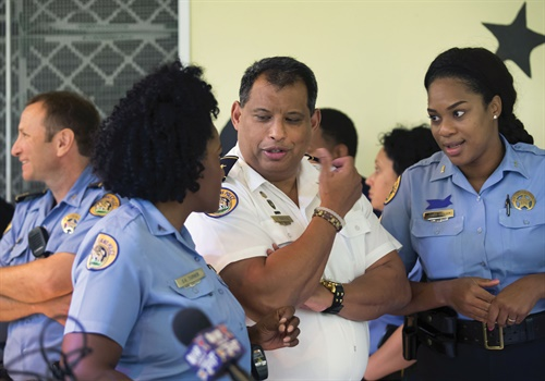 Through role playing, EPIC teaches officers how to speak to co-workers privately about potential problems. Photos: New Orleans PD