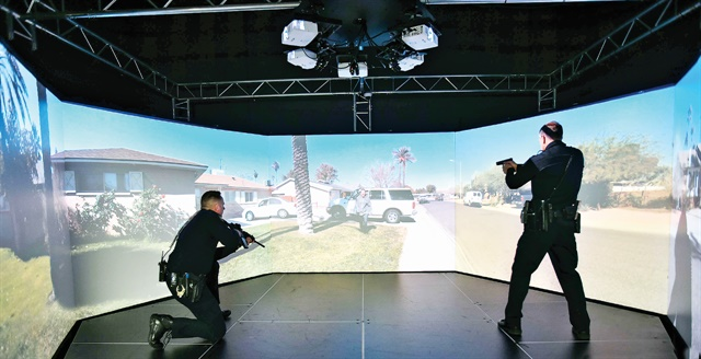 You can increase the realism of simulator training for your officers by filming scenarios in your jurisdiction. Photo: Lon Bartel