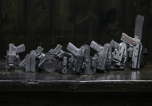 Alien Gear's ShapeShift holster starter kit comes with everything you need to make four different carry configurations and quickly switch between them. (Photo: Alien Gear)