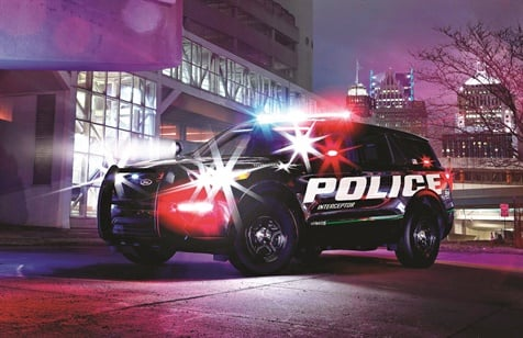 Ford says the 2020 Police Interceptor Utility hybrid is more powerful and more economical than the current gasoline-only models. (Photo: Ford Motor Company)