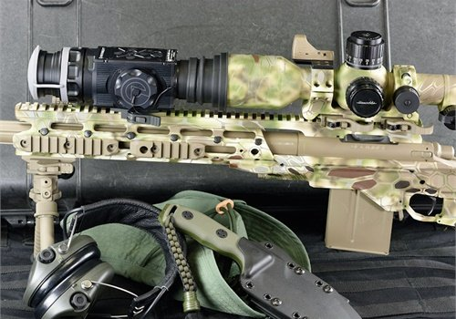 Add-on thermal imagers like Armasight by FLIR's Apollo Pro require real estate in front of the primary optic. This is not a concern for most AR platforms and MSRs, many of which come equipped with a long rail. It is a simple matter for an armorer to install an aftermarket full-rail fore-end if your rifle isn't so equipped.