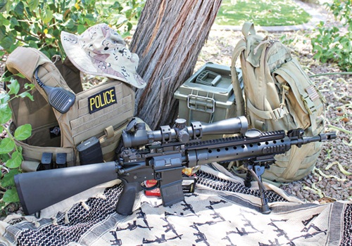 Bravo Company's BCM MK12 rifle fitted with a Leupold MK4 LR/T optic for precision shooting. (Photo: A.J. George)