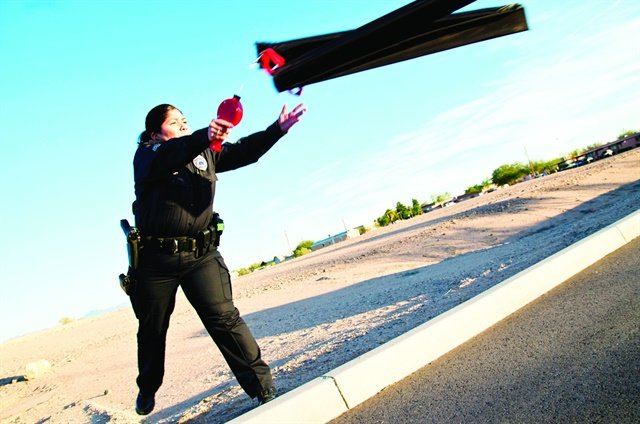When the pursued subject constitutes a significant risk to the public, officers may need to deploy spike strips.