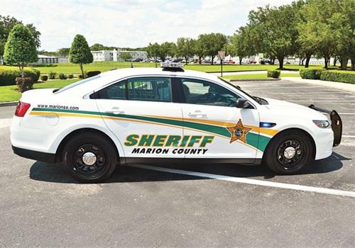 The Marion County (Fla.) Sheriff's Office's Ford Police Interceptor sedan. Photo: MCSO
