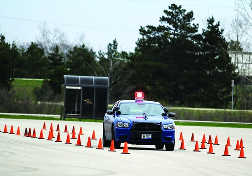 The Michigan State Police provides extensive vehicle-operation training to its recruits. Photo: Michigan State Police