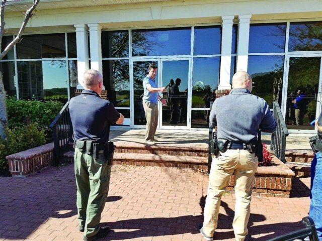 Officer-instructors were trained to use a proactive response protocol for psycho-medical emergencies. Scenarios tested their mastery of the techniques.Photo: Martinelli and Associates