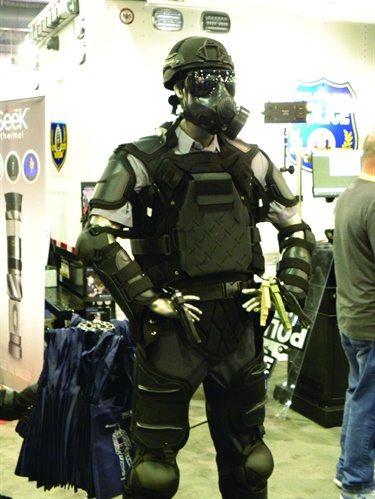 Sirchie's Tac Commander is a multi-piece riot control suit that adjusts to fit different officers