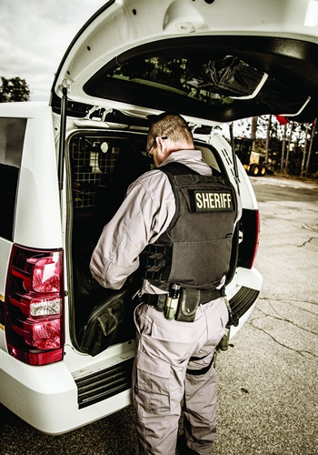 A single officer arriving at the scene of an active shooter incident can go in and end the threat. (Photo: Photo: Grand Traverse Co. Sheriff Office/Armor Express)