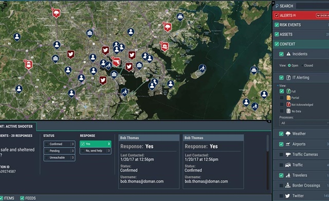 Everbridge's Critical Event Management (CEM) platform provides government organizations with a single platform for managing, coordinating, and responding to critical incidents. Photo: Everbridge