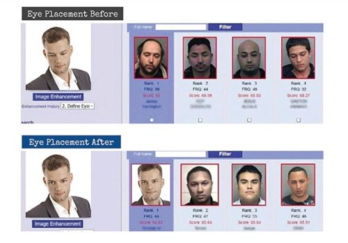 Screen shot from Vigilant Solutions FaceSearch showing an image-editing tool that can be used to improve the odds of a match.