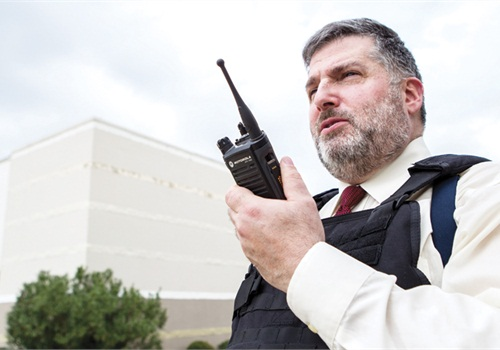 Motorola's APX 7000L is an LMR radio that can also receive and transmit LTE data for texts and programming. Photo: Motorola