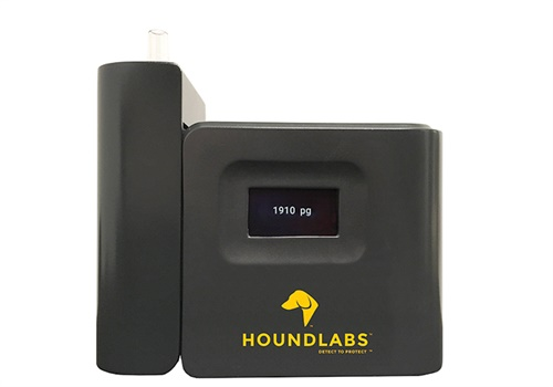A prototype of Hound Labs' Hound device. The Hound can measure the amount of Tetrahydrocannabinol (THC) present in a person's breath. (Photo: Hound Labs)