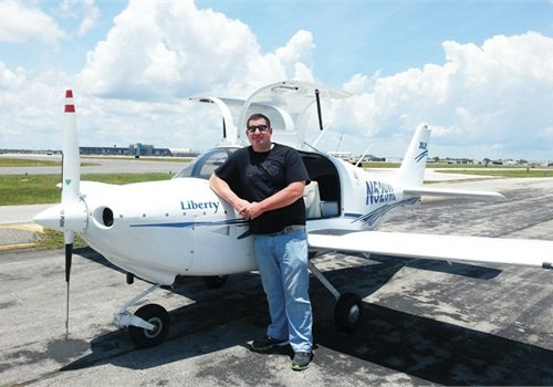 Dep. John Braman of the Volusia County (Fla.) Sheriff's Office began learning to fly a plane as a birthday present to himself this year. Photo: John Braman