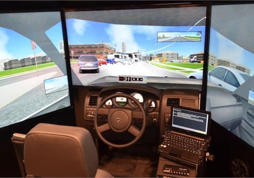 The FAACLE-1000 Driving Simulator. Photo: Mark W. Clark