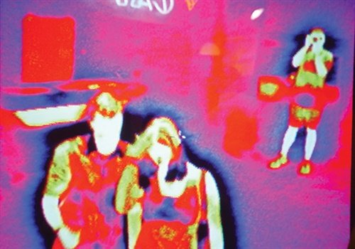 A view through a thermal imaging device. (Photo: Getty Images)