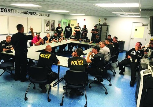 When Hurricane Irma hit, Key West (Fla.) Police Department officers were glad they had extensive disaster response training as well as help from outside agencies. Photo: Key West (FL) PD