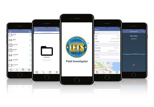 LETS Corporation's new Field Investigator (FI) app gives patrol officers more time in the field by automating evidence collection and report writing. Photo: LETS Corporation