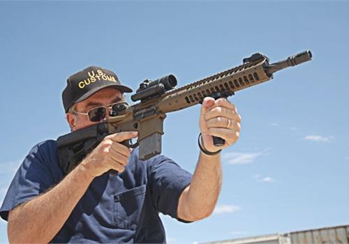The author fires LWRC's M6A2 special purpose rifle. Photo: Alex Landeen