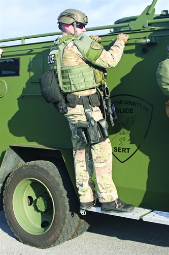 A member of Lancaster County (PA) SERT said the traction on the Haix boot he tested was the best of any duty boot he'd ever worn. Photo: Lancaster County (PA) SERT
