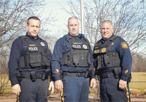 Officer Jeff Caldwell, Officer Fred Dow, and Det. Michael Pellegrino.