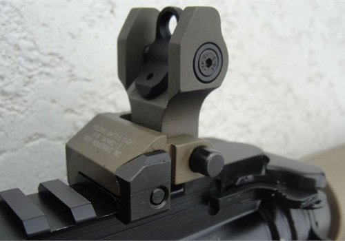 Troy Industries BUIS rear sight. Photo: Bob Parker