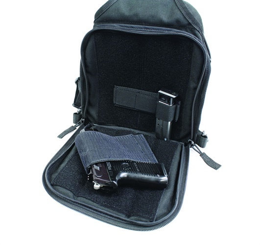Back pocket with optional CCW holster. Photo: TravTac